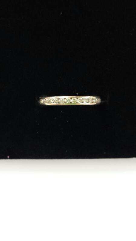Lady's Gold-Diamond Anniversary Ring 13 Diamonds .13 Carat T.W. 14K White Gold