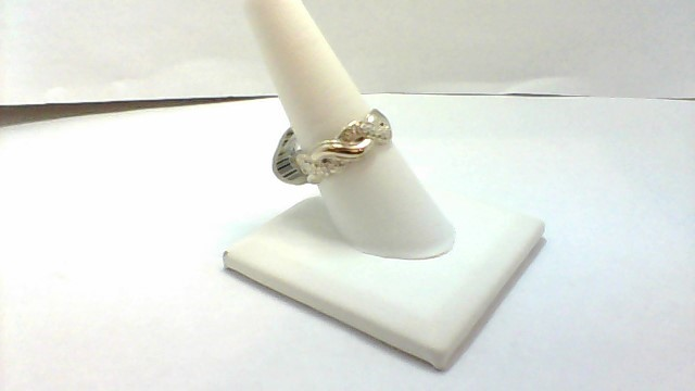 14KW 6.3G SZ8.5 SWIRL FLORAL BAND RING