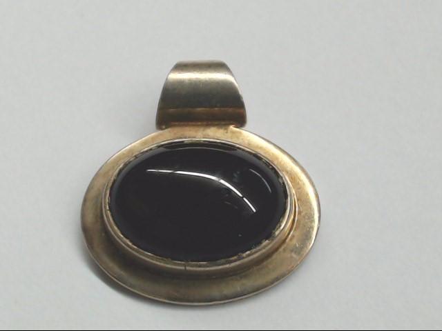 Black Stone Silver-Stone Pendant 925 Silver 9.2g