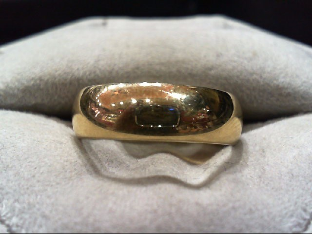 Gent's Gold Wedding Band 14K Yellow Gold 5g Size:9