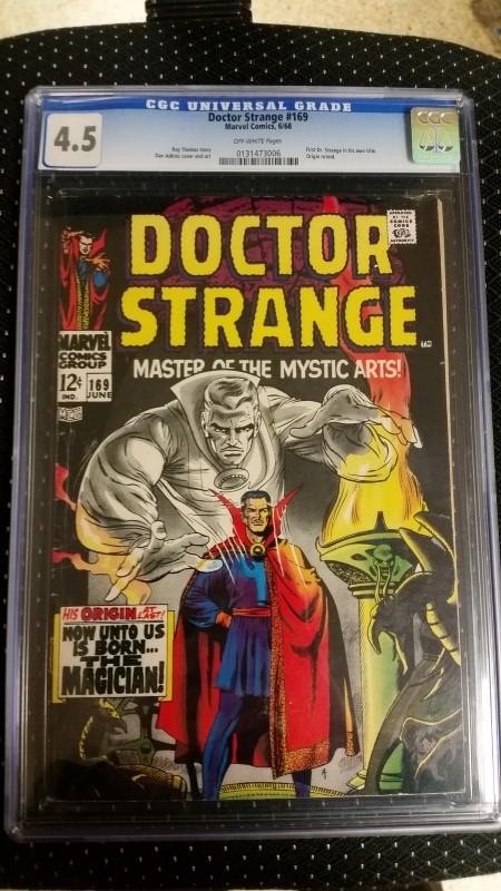 Doctor Dr. Strange #169 1968 CGC 4.5 Origin Story Retold