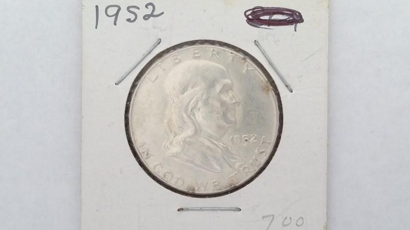 United States Silver 1952 Franklin Half Dollar