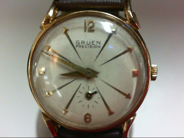 GRUEN Gent's Wristwatch MANS 14KT PRECISION 14K Yellow Gold 10.5g