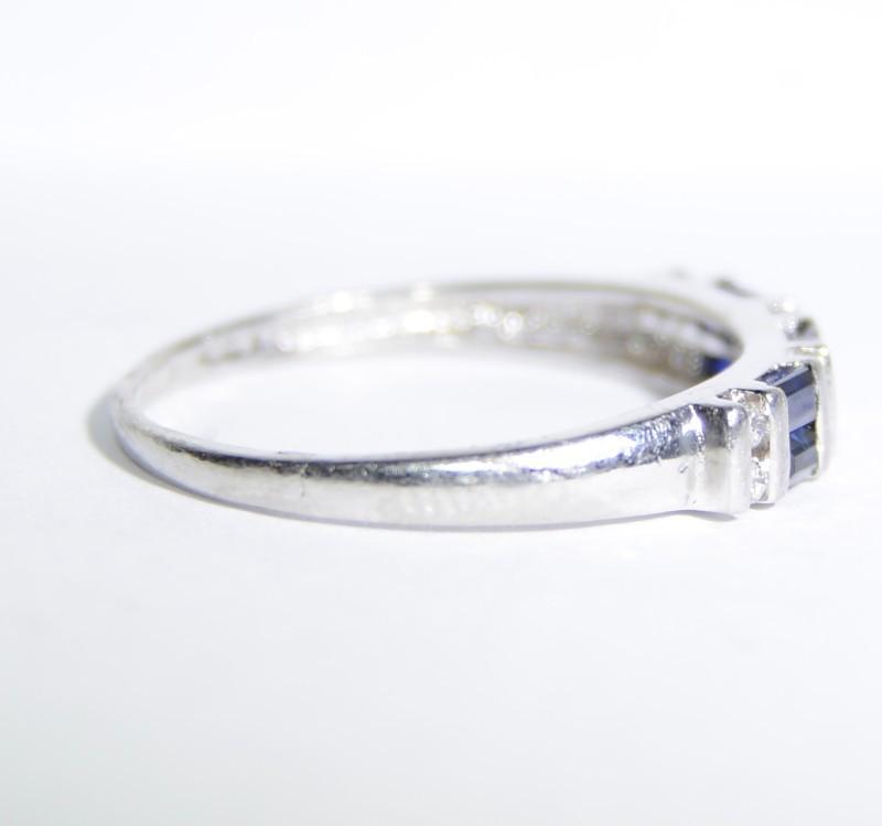 Sapphire Lady's Platinum-Diamond & Stone Ring Size 7.25