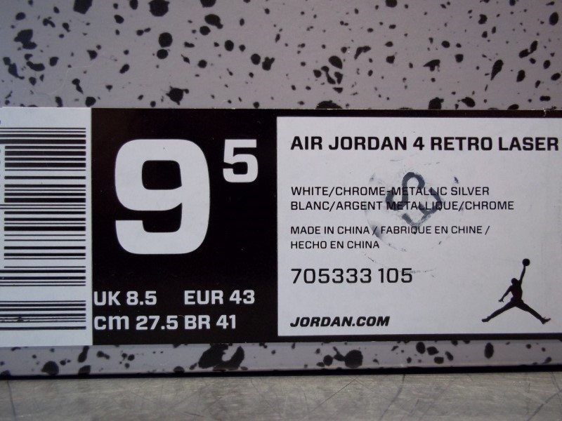 NIKE AIR JORDAN RETRO 4 LASER SIZE 9.5 MENS