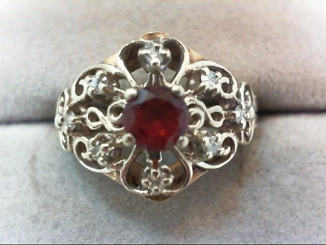 Lady's Diamond Fashion Ring 7 Diamonds .07 Carat T.W. 14K Yellow Gold 5.1g