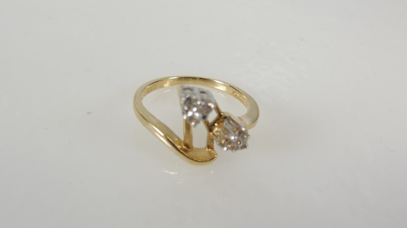 LADY'S 10KYG DIAMOND BAND FOR MOUNTING 2.2G SZ.4