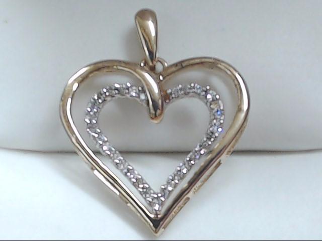 Gold-Multi-Diamond Pendant 30 Diamonds .30 Carat T.W. 10K Yellow Gold 1.2g