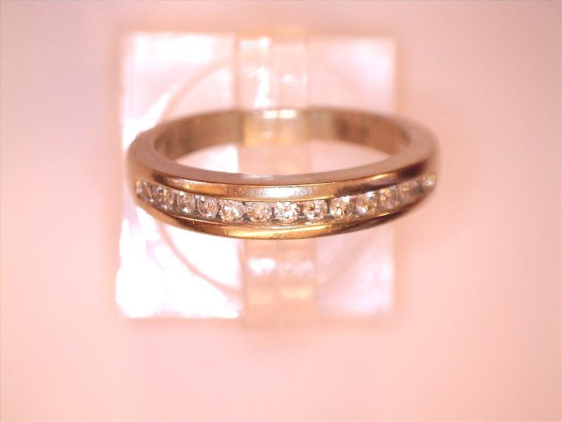 Lady's Gold-Diamond Anniversary Ring 12 Diamonds .12 Carat T.W. 14K White Gold