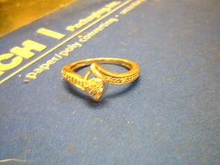 Lady's Diamond Cluster Ring 27 Diamonds .027 Carat T.W. 10K White Gold 2.4g