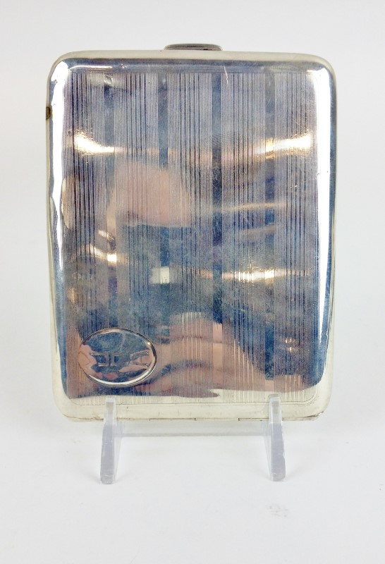 Sterling Silver Vintage Cigarette Case 150.6g Circa 1960's