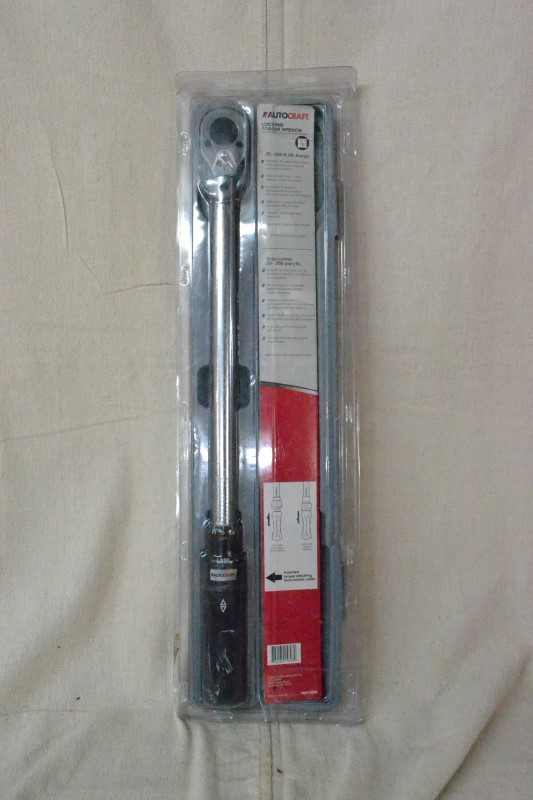 AUTOCRAFT Torque Wrench LOCKING TORQUE WRENCH 3/8 DRIVE