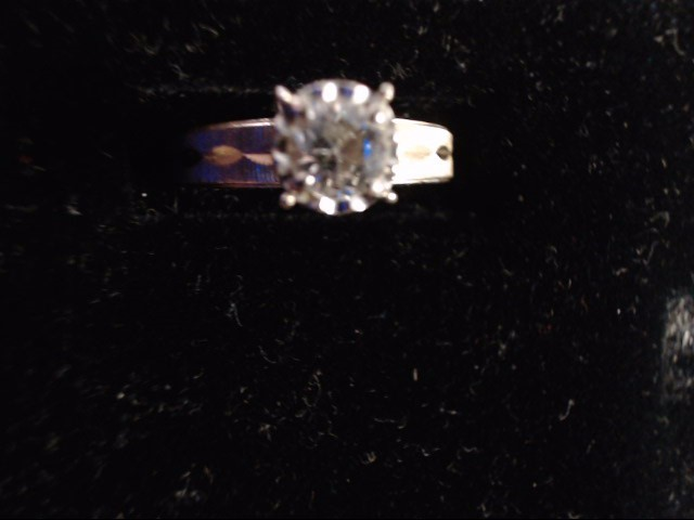 Lady's Diamond Solitaire Ring .35 CT. 14K Yellow Gold 3.2g Size:5.5