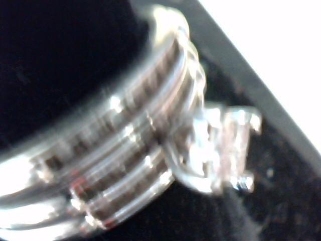 Lady's Diamond Cluster Ring 23 Diamonds .23 Carat T.W. 10K White Gold 2.6dwt