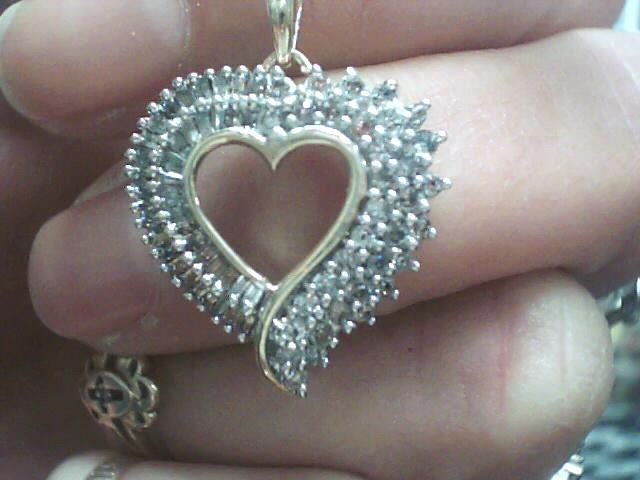 Diamond Necklace 82 Diamonds .82 Carat T.W. 10K Yellow Gold 2.1dwt
