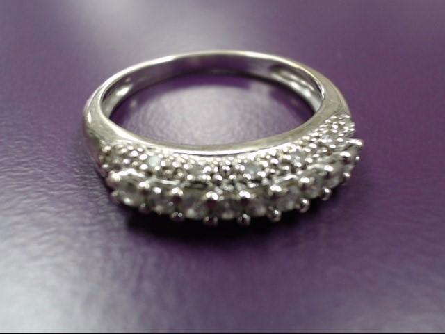 Lady's Diamond Fashion Ring 9 Diamonds 0.45 Carat T.W. 14K White Gold 3.3g