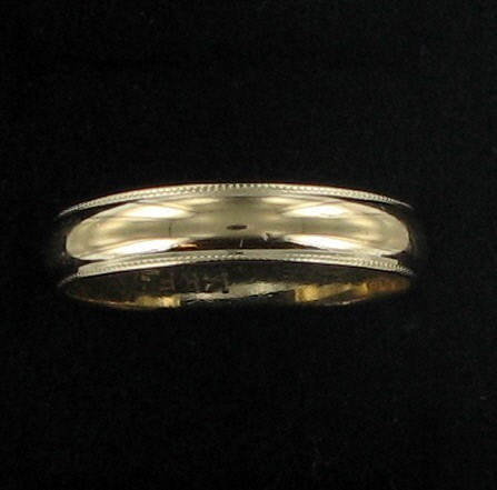 Gent's Gold Wedding Band 14K Yellow Gold 2.6dwt