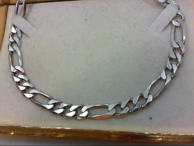 """22"""" Silver Figaro Chain 925 Silver 66.3g"""