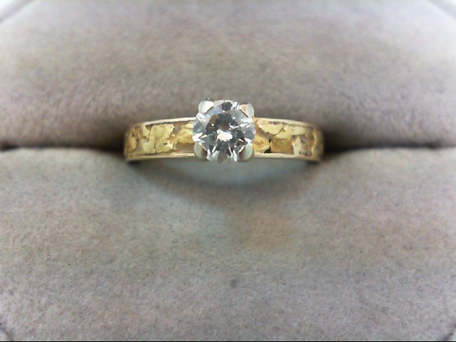 Lady's Diamond Solitaire Ring .35 CT. 14K Yellow Gold 3.5g