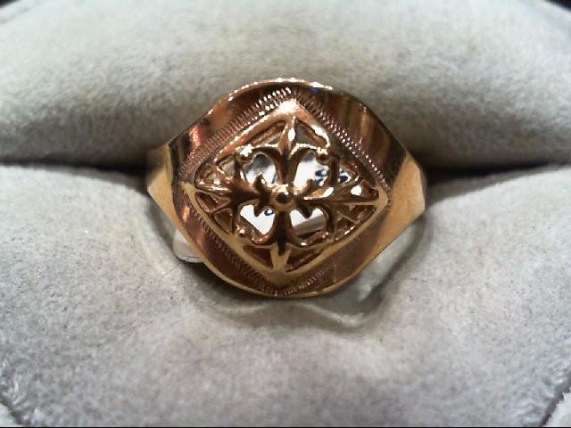 Lady's Gold Ring 14K Rose Gold 3.3g
