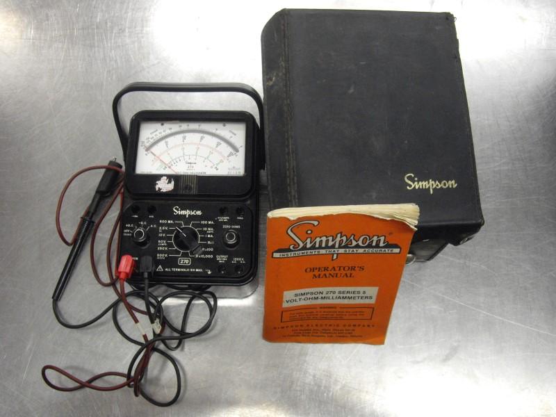 SIMPSON Multimeter 270 SERIES 5
