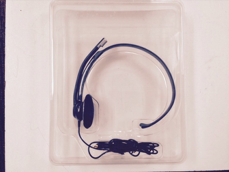 PLANTRONICS OVER-THE-HEAD CORDLESS PHONE HEADSET, MODEL #M210C