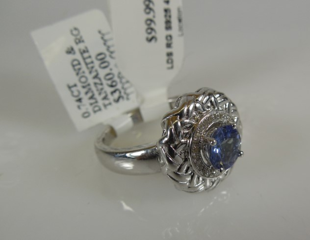 Lady's Silver Ring 925 Silver 4.8g Size:7