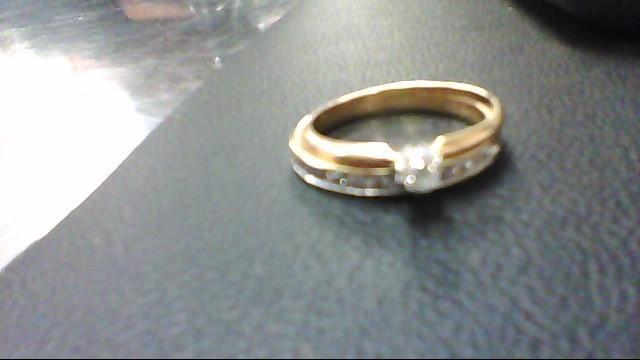Lady's Diamond Wedding Set 14 Diamonds .28 Carat T.W. 10K Yellow Gold 3.4g