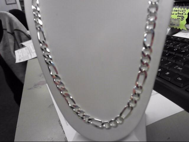 """20"""" Silver Figaro Chain 925 Silver 25.25g"""