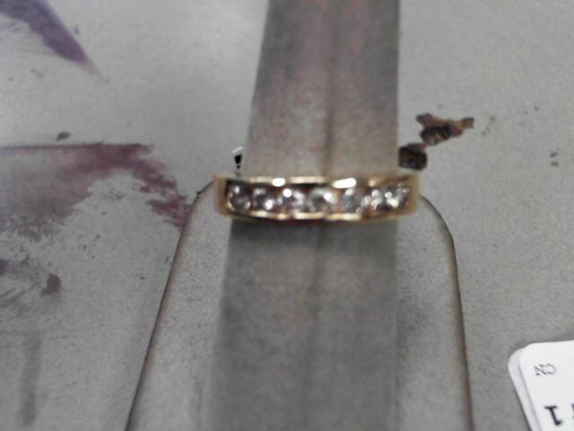 Lady's Diamond Wedding Band 7 Diamonds .42 Carat T.W. 14K Yellow Gold 5.6g