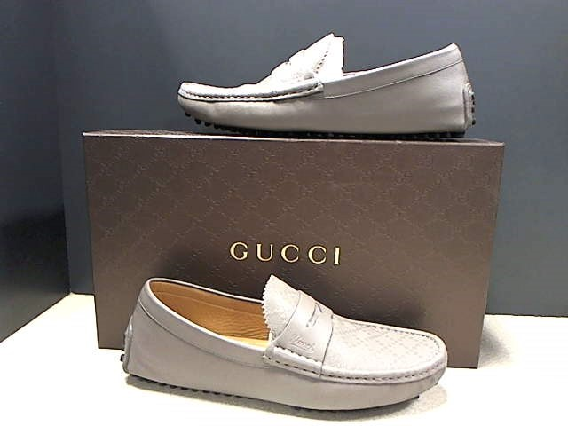 GUCCI 255350 DIAMANTE GRAY LOAFERS SIZE 6