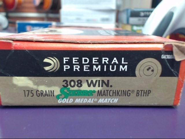 FEDERAL AMMUNITION Ammunition PREMIUM 308 175GR BTHP