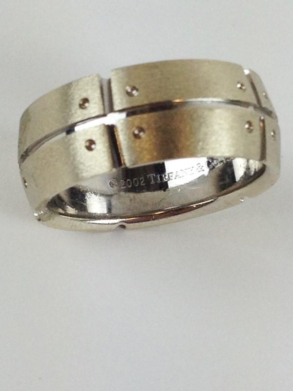 Tiffany & Co. Wedding Band 18K White Gold 11.62g