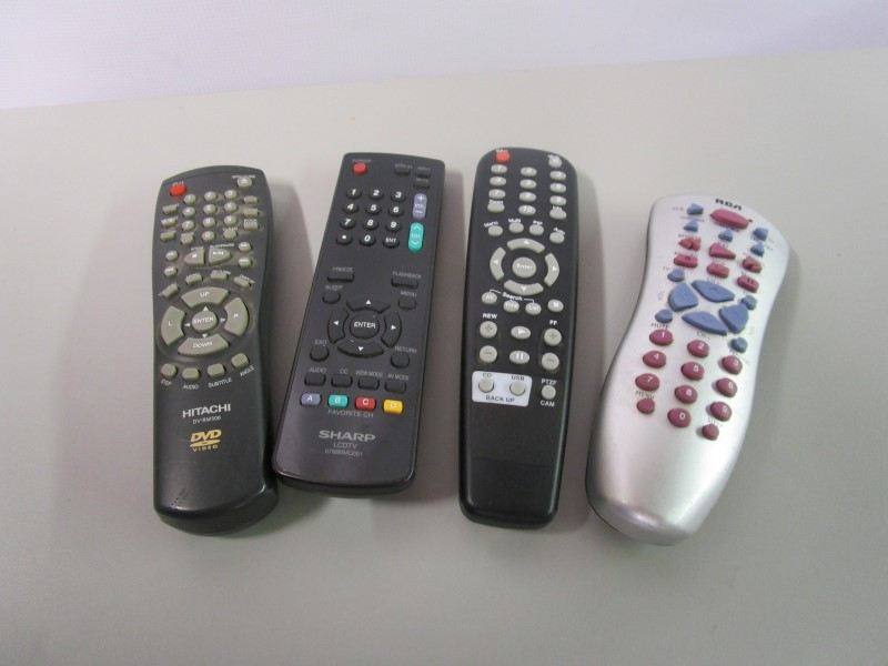 LOT OF 4 REMOTE CONTROLS, UNTESTED