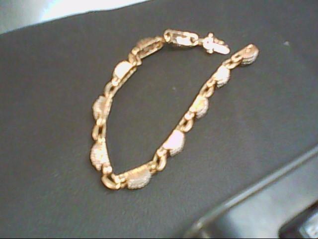 Gold-Diamond Bracelet 240 Diamonds 2.40 Carat T.W. 10K Yellow Gold 13.5g