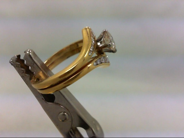 Lady's Diamond Wedding Set 15 Diamonds 1.00 Carat T.W. 18K Yellow Gold 5.8g