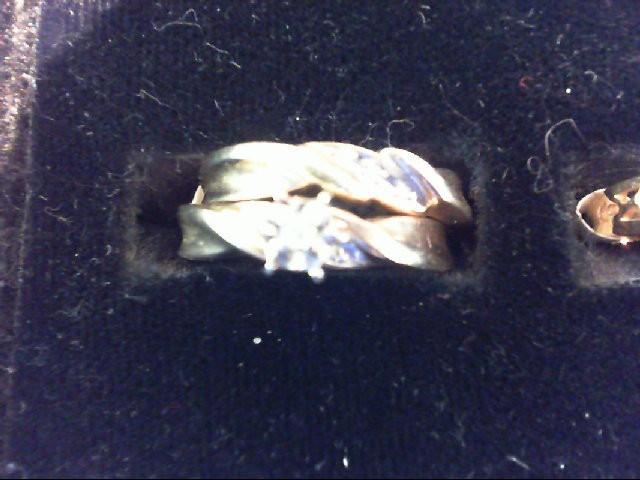 Lady's Diamond Wedding Set 6 Diamonds .055 Carat T.W. 10K Yellow Gold 2.6g