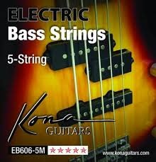 KONA 5-STRING ELECTRIC BASS GUITAR STRINGS EB606-5M BASS STRINGS