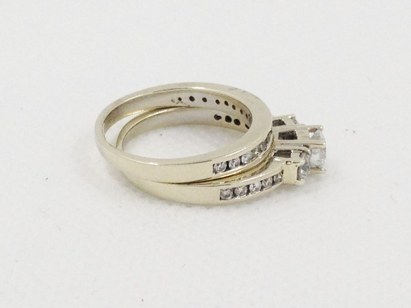 Diamond Wedding Band 29 Diamonds .81 Carat T.W. 14K White Gold 5.82g