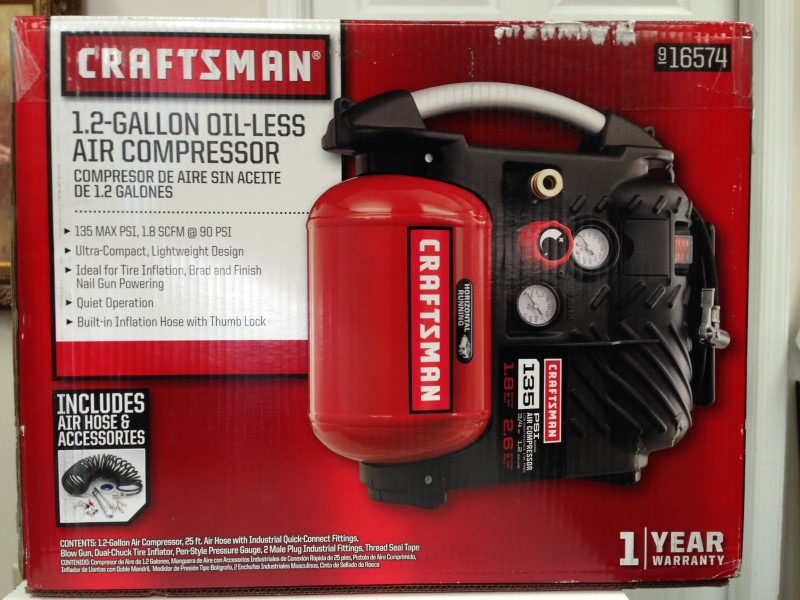 CRAFTSMAN AIRBOSS 1.2 GALLON OIL-LESS AIR COMPRESSOR KIT