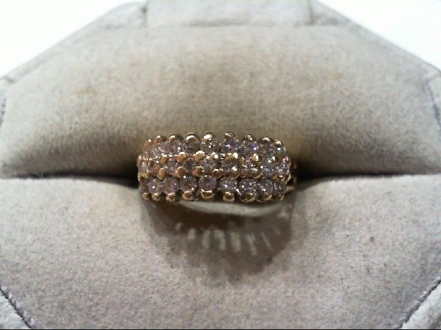 Lady's Diamond Cluster Ring 27 Diamonds .54 Carat T.W. 14K Yellow Gold 3g