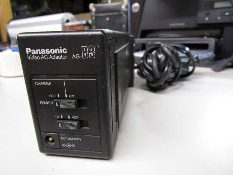 PANASONIC AG-B3 VIDEO AC ADAPTOR, UNIT POWERS ON, NO FURTHER TESTING