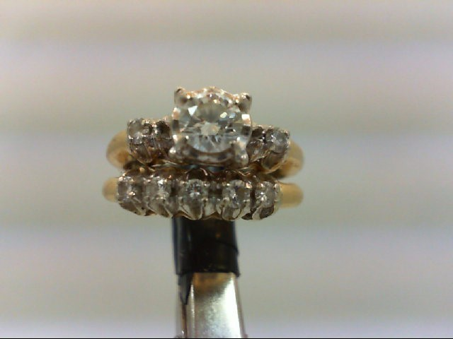 Lady's Diamond Wedding Set 8 Diamonds 0.63 Carat T.W. 14K Yellow Gold 4.6g
