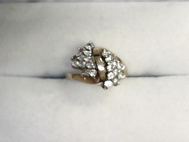 Lady's Diamond Engagement Ring 22 Diamonds .66 Carat T.W. 14K Yellow Gold