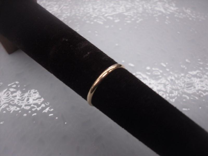 Lady's Gold Wedding Band 14K Yellow Gold 1.5g Size:6