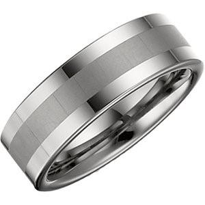 Gent's Ring Silver Tungsten 12g