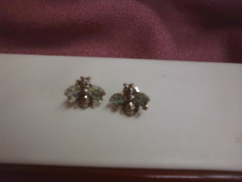 Silver Earrings Silver Plate 1.2dwt