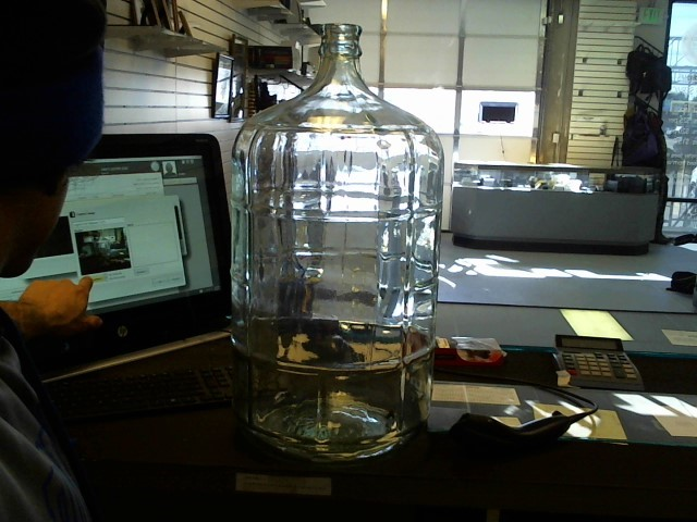 5 GALLON GLASS JUG/ BREWING JUG/ CHANGE JAR