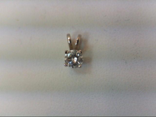 Gold-Diamond Solitaire Pendant .25 CT. 14K White Gold 0.3g