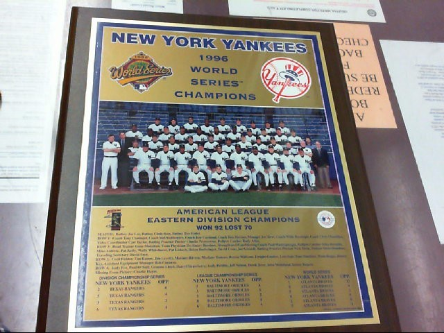 YANKEES PLAQUE